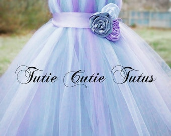 Sweet Lavender, Silver and White, Tutu Dress