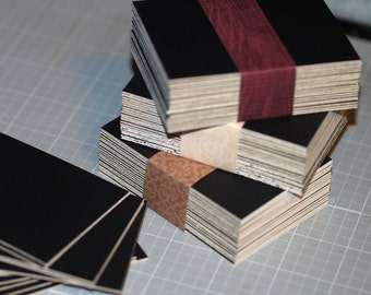 50 ATC / ACEO Blanks ... Crescent Matboard Black Mat Board Art Supplies pH Neutral Drawing Archival Thick Cards Art Paper Artist Supplies