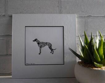 Greyhound, Greyhound Drawing, Greyhound Art, Greyhound Original, Pen & Ink Drawing, Original Drawing, Art, Sighthound, Sighthound Art, Dogs