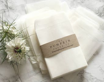 50 Seed Envelopes Seed Wedding Favors Glassine Envelopes Wedding Favor Envelopes Translucent Envelopes Seed Packets Coin or Stamp Envelopes