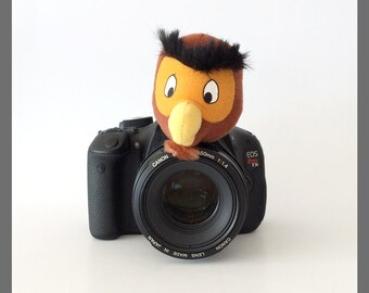 Clearance Sale Item! 50% Discount! Camera Strap Accessories, Camera Lens Buddy, Photo Props for Kids/Children Photographer Gifts, Brown Owl