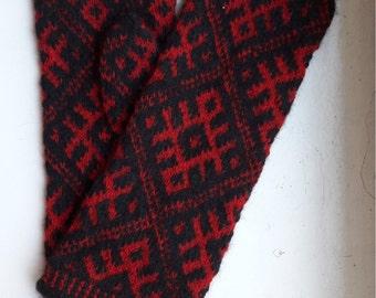 Traditional handmade merino wool mittens