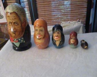Russian Doll American President Bill Clinton, Hillary Clinton Etc (1990s)