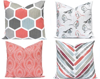 Decorative Pillow Covers  - Sofa Pillow Covers - Red Pillow Covers -Designer Pillow Shams - Decorative Throw Pillow Covers - Pillowcase