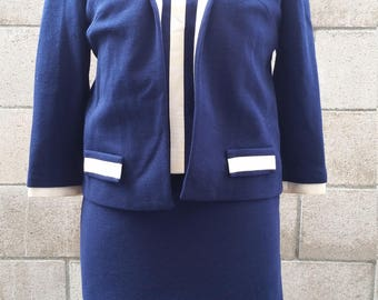 Vintage 1950s Professional Business Wear by Butte Knit! Pan-Am Look!