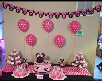 Minnie Mouse Birthday Banner - Customizable Birthday Banner