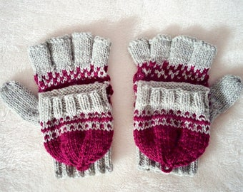 KNITTING PATTERN: Fairy Tale Convertible Gloves | fingerless gloves knitting pattern | convertible gloves | knit gloves | half finger gloves