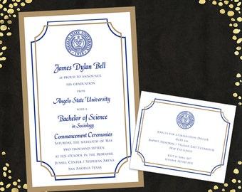 College Graduation Invitations Announcements Bachelor's Degree Layered Announcements Graduation Announcements