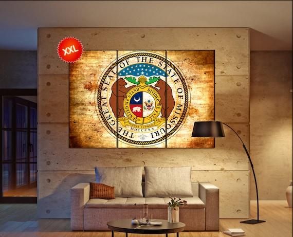 missouri seal flag  canvas missouri seal flag wall decoration missouri seal flag canvas art missouri seal flag large canvas