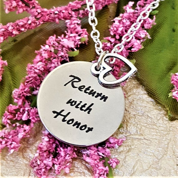Gifts for LDS Missionaries, LDS Jewelry, Return with Honor Missionary Charm Necklace, Mormon Charms, Mission Gift for Mission President Wife