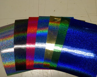 """Holographic micro sequins 7 colors your choice price is for 7 sheets 4""""x6""""x.003"""