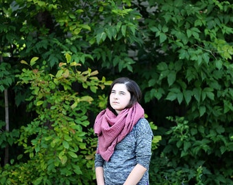 lightweight cotton gauze scarf in Raspberry