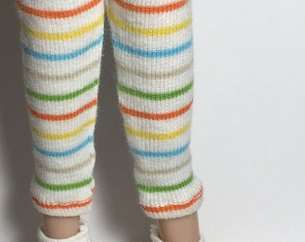 Rainbow Primary Striped Leggings...For Blythe...