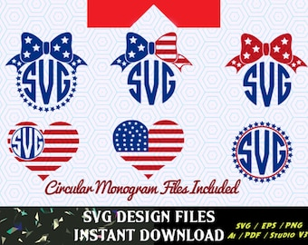 American Flag Monogram Frames, 4th of July svg, Memorial Day, 4th of July  SVG, 4th of July SVG, T-Shirt Designs, T-Shirt Design, Decal svg