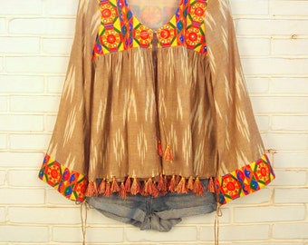 gypsy boho clothing-gypsy boho jacket-festival top-hippie gypsy top-bell sleeve-gypsy festival top-boho gypsy top-cotton boho top-gipsy