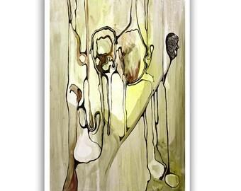 Vibrant Abstract Print 11x16