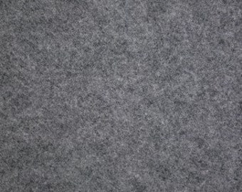 "Heathered Gray Felt Fabric 72"" Wide Per Yard"