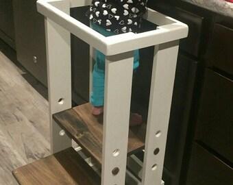 Safe Toddler stool,  Child Safety Kitchen Stool, mommy's helper, kitchen helper, learning center, tower stool, toddler safety stool