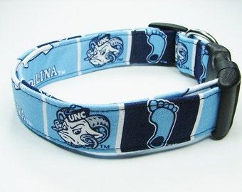 North Carolina Tar Heels Dog Collar