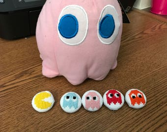 Pac Man Cross Stitch Pins