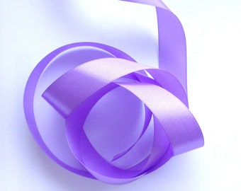 5 meters of lilac satin ribbon - 25 mm wide - REF.  1863