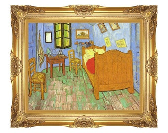 Vincent's Bedroom at Arles Vincent van Gogh Framed Art Print Canvas Painting Reproduction - Small to Large Sizes - M00038