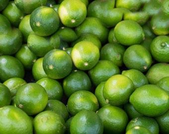 Photo Print or Canvas Gallery Wrap, Limes, Food Photos, Green Limes, Kitchen Photos, Fruit Photos