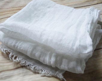 White scarf, linen scarve, natural scarf, man women scarf, accessory