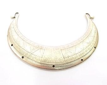 Silver Pendant Extra Large Antique Silver Plated Pendant Collar Pendant Tribal Pendant Ethnic Pendant (145x32mm)  G8306