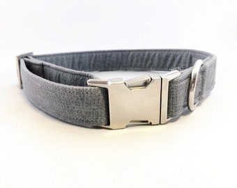 Gray Dog Collar · Dark Gray Collar · Solid Color Collar · Girl Dog Collar · Boy Dog Collar · Chic Dog Collar · Preppy Dog Collar ·