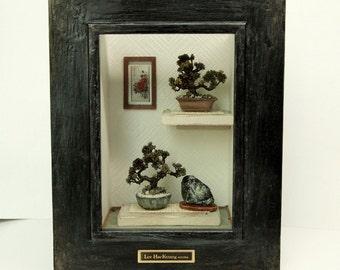 Oriental Bonsai tree (Frame No.3) Asian Traditional Dollhouse Miniatures 1/12