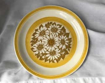 Vintage Mustard Yellow China Serving Plate