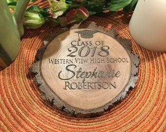 Personalized Graduation gift, Graduation gift, class of 2018 gift, graduate gift, custom graduation gift, custom coaster, Rustic coaster,