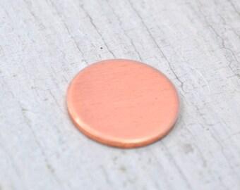 Five 1/2 inch Discs 20 Gauge Deburred Copper