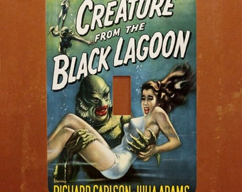 Creature Feature -- Vintage Horror Movie Poster Light Switch Cover -- Oversized