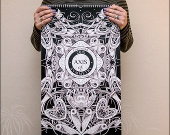 "Large wall Calendar 2015 ""Axis of Symmetry"""