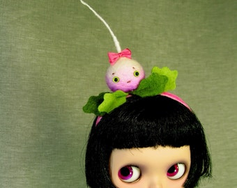 Happy Turnip Headband for Blythe Dolls MADE TO ORDER