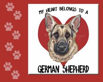 GERMAN SHEPHERD TRIVET, German Shepherd Tile, German Shepherd , German Shepherd Spoon Rest, Choose Your Style