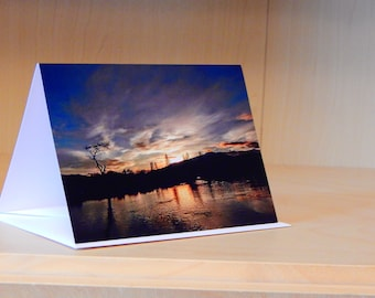 Greetings Card - Sunset over the Teith, Callander