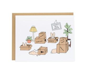 Heureuse nouvelle maison pendaison de crémaillère carte, carte de Corgi, félicitations carte, Appartement neuf, en mouvement, de la maison heureuse, carte de pendaison de crémaillère