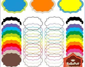 Instant Downloads, 12 Digital Frames X 4 Sets. Personal and Small Commercial Use. BP 0373