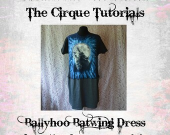 Digital Tutorial The Ballyhoo Batwing Dress Womens PDF Download TUTORIAL ONLY