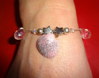 gift for her, beach lover gift,  undre the sea mermaide jewerly sea shell bracelet.