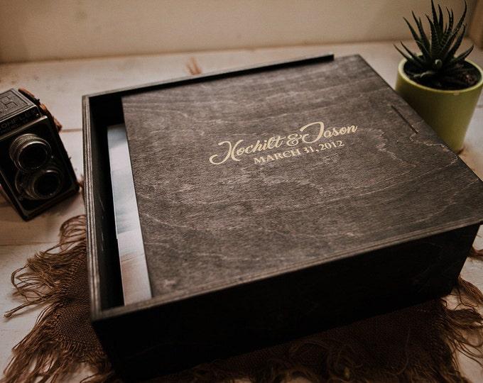 CUSTOM - 10x12x5 (5 inches deep) Wood Box (NO area for USB)