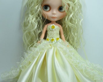 Outfit Clothing wedding gown dress with veils for Blythe doll 953-8