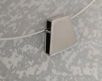 Box Pendant, Argentium, Silver Pendant