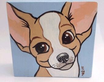 Chihuahua - Dog Art - Dog Painting - Canine Art - Kids Room Decor - Animal Art - Pet Portrait - Animal Decor