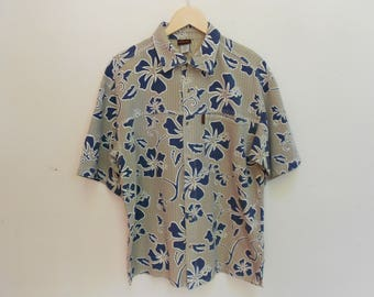 gramicci floral shirt vintage gramicci made in usa aloha kamehameha kalakaua