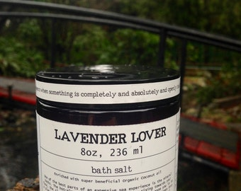 Aromatherapy Lavender Lover Bath Salt, nourishing, moisturizing, relaxing, pampering, gift