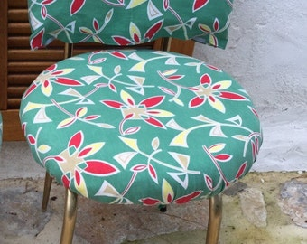 modernist small lounge chair printed vintage Chair